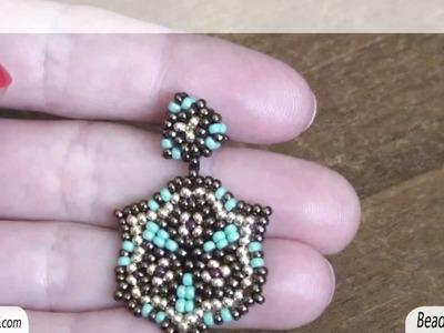 Sarubbest - Orecchini con perline: orecchini con perline turchesi rocailles 11.0 | Nuove creazioni