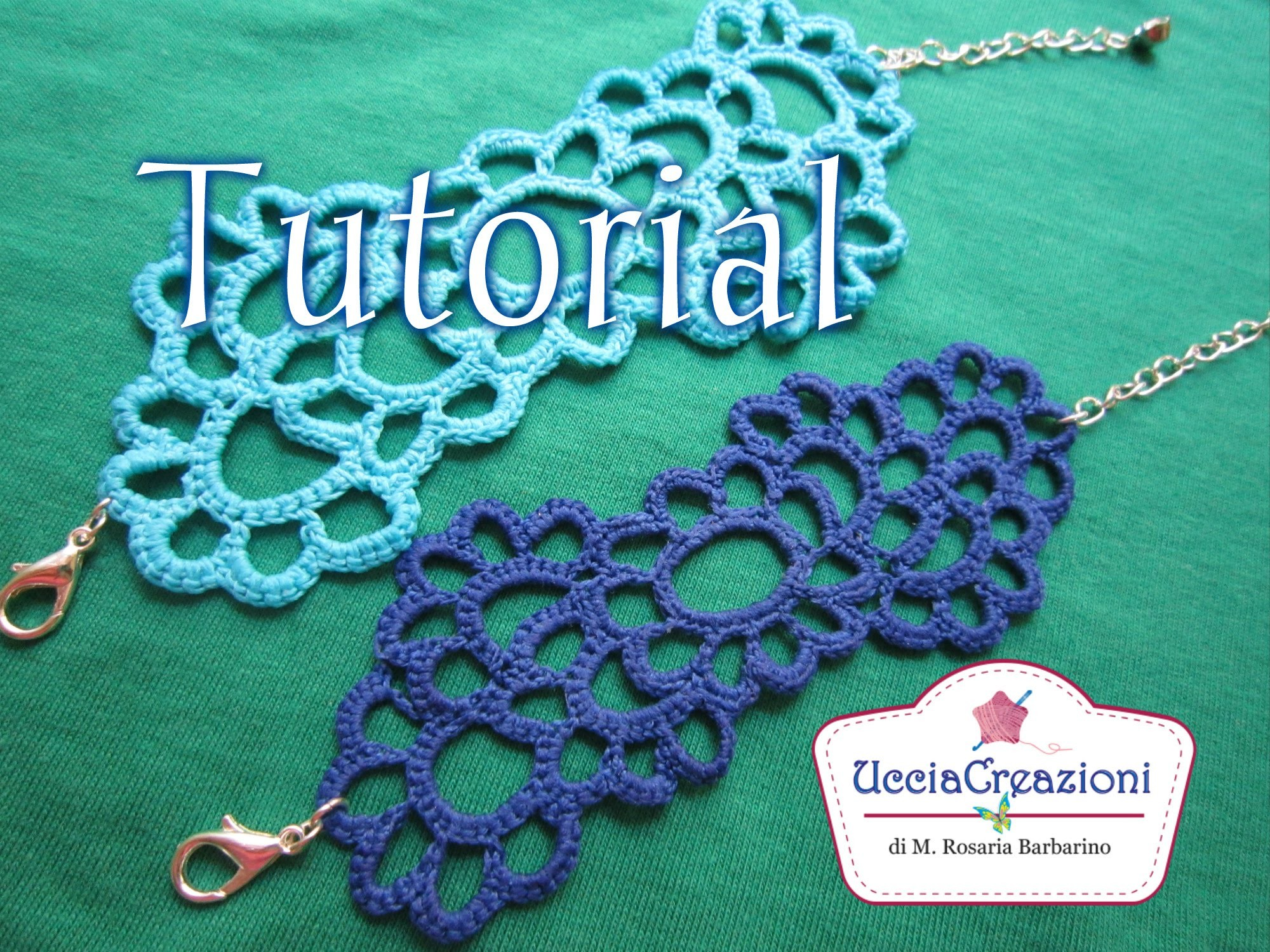 Tutorial 13. Bracciale Tatoo all' Uncinetto | How Crochet TATOO Bracelets