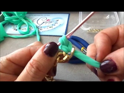 TUTORIAL CATENA DORATA E FETTUCCIA TIFFANY