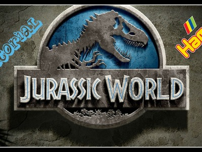 Tutorial Logo JURASSIC WORLD con Hama Beads - Jurassic Park Series WWW.PERLINEDASTIRARE.IT