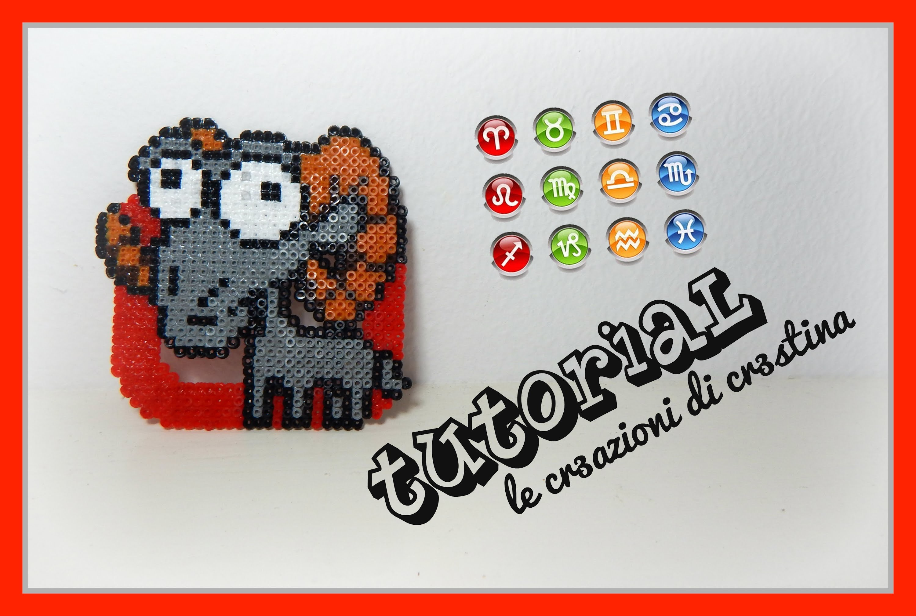 Tutorial Segno Zodiacale dell'Ariete con Hama Beads - Star Signs.Zodiac Series