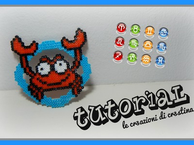 Tutorial Segno Zodiacale del Cancro con Hama Beads - Star signs.Zodiac Series