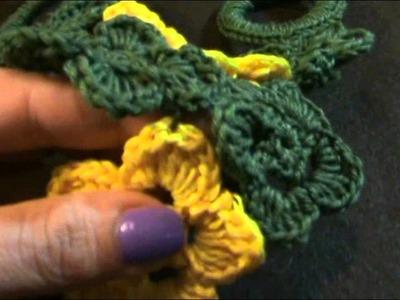 Tutorial Uncinetto - Collana con fiorellini e anelli rivestiti a uncinetto