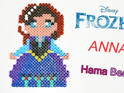 Anna di Frozen con Hama Beads. Disney's Frozen Anna - Perler Beads DIY