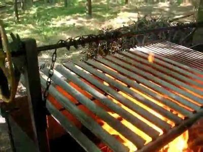 Barbecue gigantesco Italo Argentino,Ayudar a construir  Asador,   Como construir Guida per barbecue