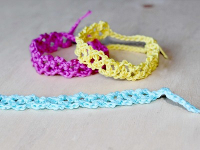 Braccialetti colorati all'uncinetto - Tutorial