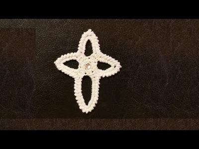 Come fare una croce all'uncinetto per la prima comunione