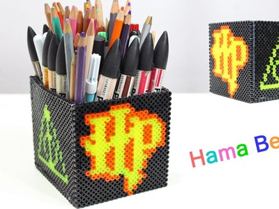 Portapenne Harry Potter con Hama Beads.Pencil Holder Perler Beads Tutorial