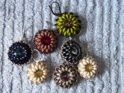 Sarubbest: Orecchini con perline: orecchini con perline SuperDuo - Rientro in punta di piedi