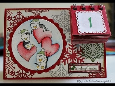 Tutorial Natale: Card con Calendario dell' Avvento (Christmas) - Lartevistadame