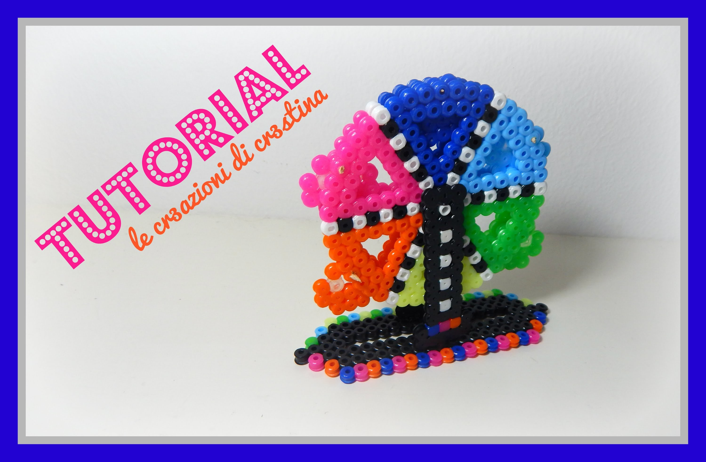 Tutorial Ruota Panoramica 3D con Hama Beads - www.perlinedastirare.it