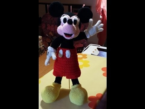 Tutorial Topolino Micky Mouse all'uncinetto parte II - Tutorial Micky Mouse Amigurumi