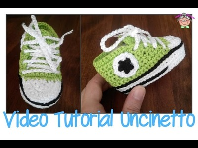 Tutorial Uncinetto: come si fa la suola delle scarpine ALL STAR CONVERSE