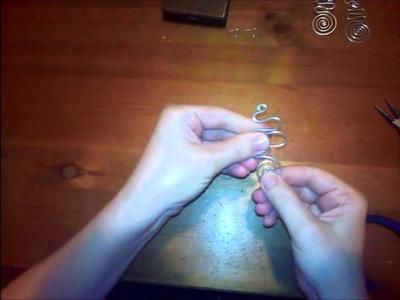 Tuttorial come fare orecchini in filo di alluminio