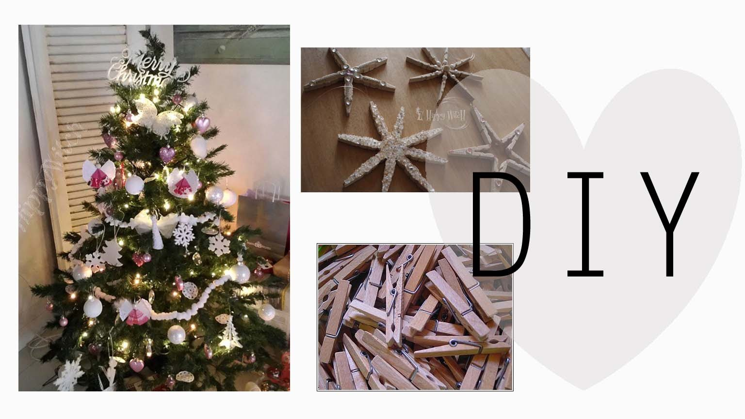 Come fare BELLISSIME decorazioni per l'albero: Stelle natalizie DIY