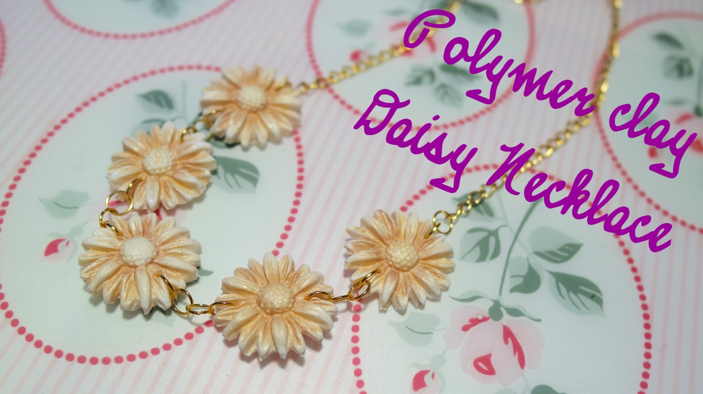 DIY Gold Daisy Necklace | Collana con Margherite Dorate ❀