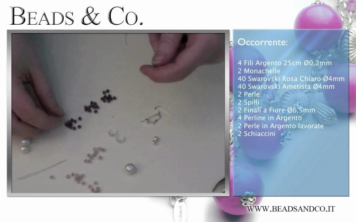 Fare Orecchini e Perle di Argento lavorate - Lezione 18 - Tutorial Beads&Co.