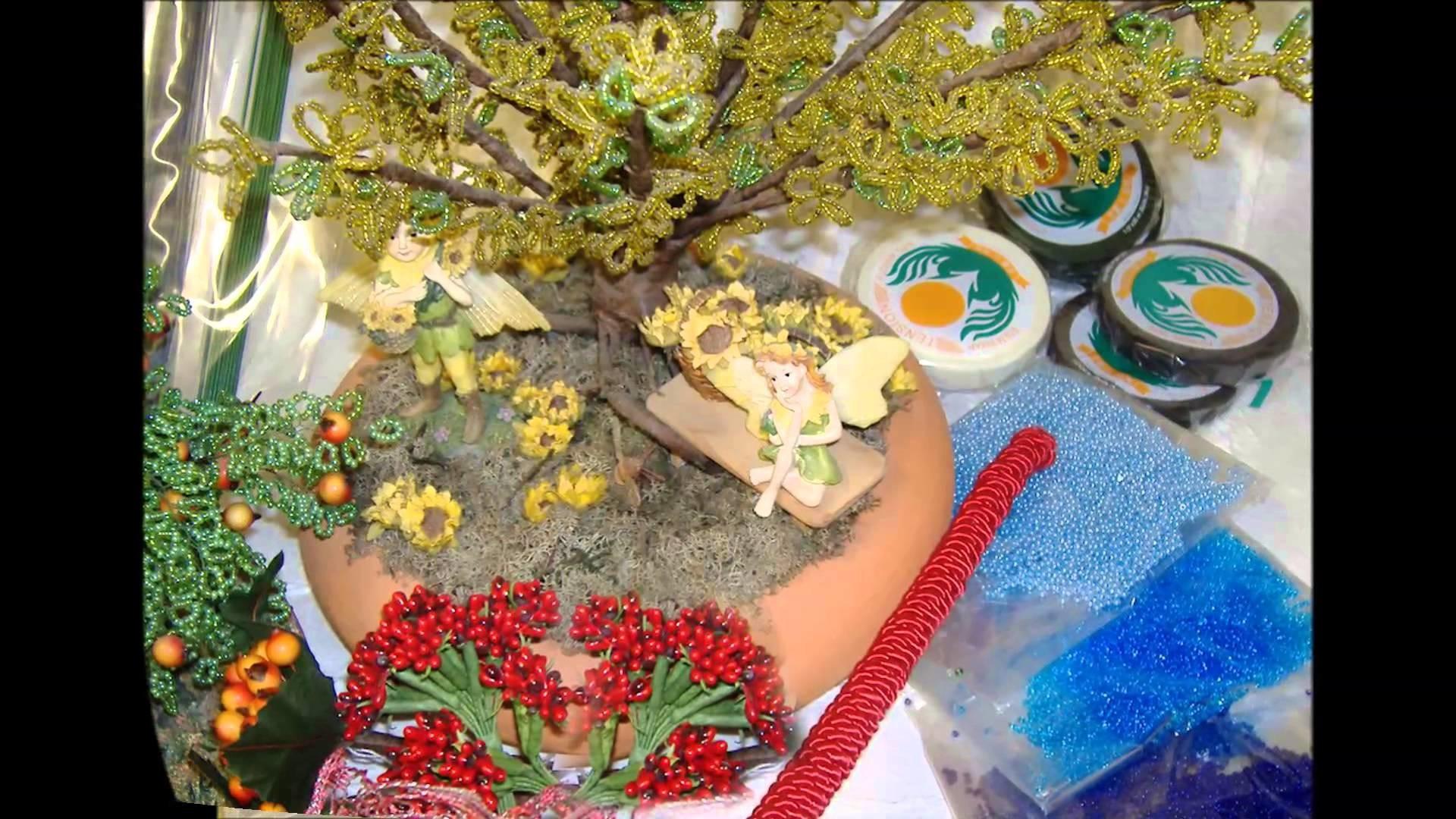 Perline fiori e piantine: bonsai melo, forsizia, bouquet rose