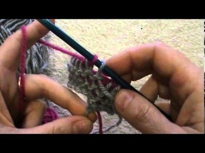 Tecnica tunisina lavorazione in tondo