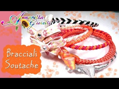 Tutorial bracciali con piattine soutache | Come riciclare le piattine mosce!