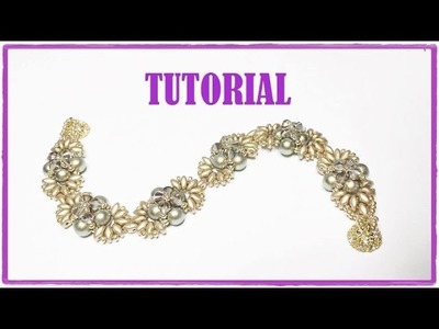 Tutorial, come fare un bracciale con perline. Bracciale Iridescenze Decò