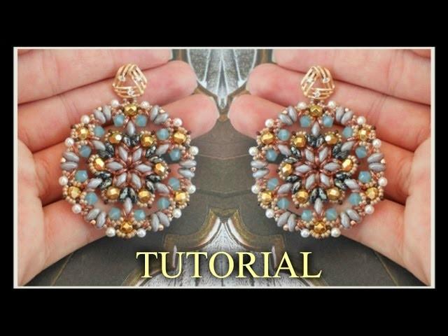 Tutorial Orecchini * MARIA FRANCESCA * modulo ciondolo - superduo bicono obeads Perline DIY