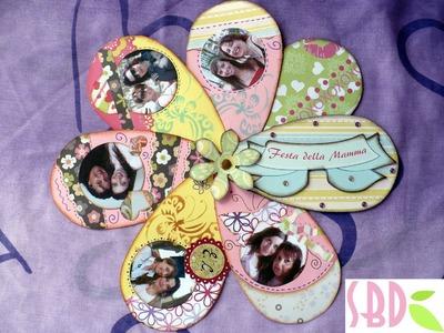 Tutorial Scrap: Album Fiore (Festa della Mamma) - Flower Album Mother's day