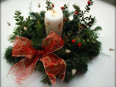 Centrotavola natalizio fai da te