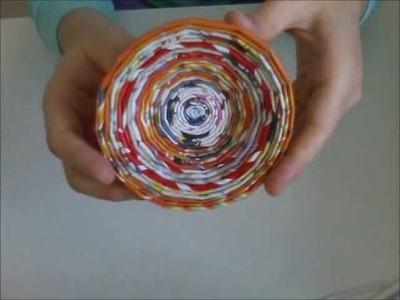 Ciotoline di carta di giornale (tutorial)