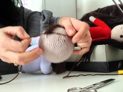 Come fare un parrucca per bambola amigurumi