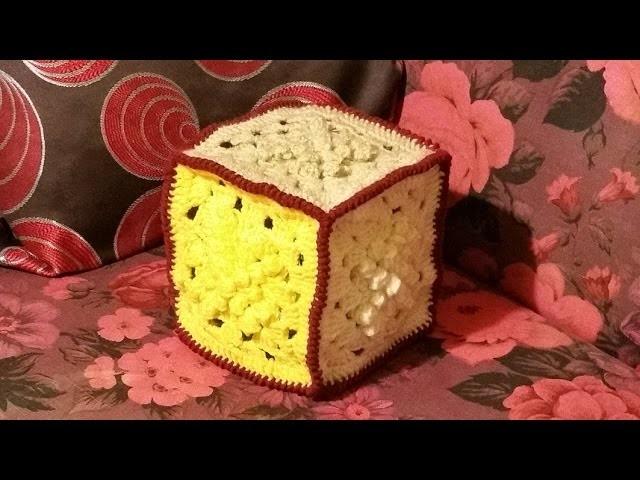 Cubo all'uncinetto profuma ambienti - tutorial - cube crochet - crochet cubo