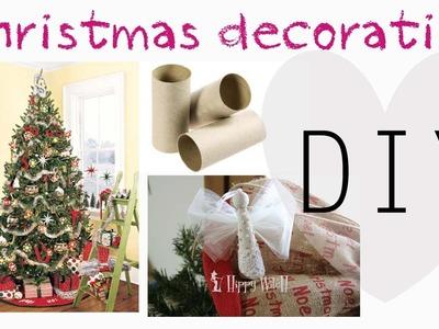 DIY: Decorazioni per Albero di Natale con rotoli carta igienica