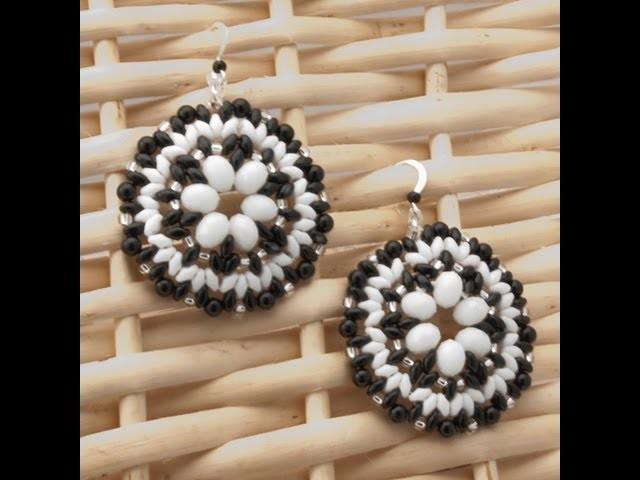 Orecchini Flower Black&White | Tutorial - HobbyPerline.com