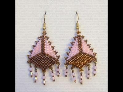 Sarubbest - Orecchini con perline e bicono Swarovski al Peyote | Nuove Creazioni