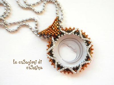 Tutorial contromaglia di perline - come creare un'asolina per ciondoli (2.2)