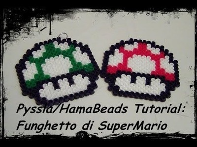 Tutorial Hama Beads. Pyssla: Funghetto di SuperMario! che caos 'sto tutorial! ^_^