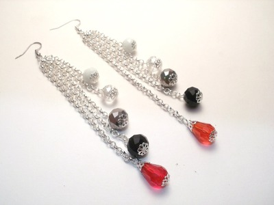 Tutorial orecchini per capodanno | Orecchini fai da te per principianti | Earrings for New Year