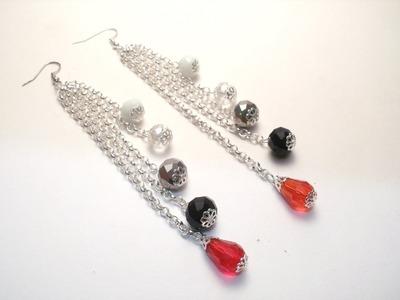 Tutorial orecchini per capodanno | Orecchini fai da te per principianti | Earrings for New Year