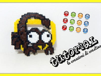 Tutorial Segno Zodiacale dello Scorpione con Hama Beads - Star Signs.Zodiac Series