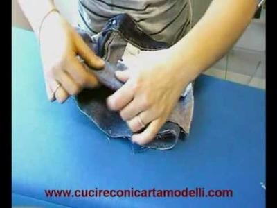 Come cucire e realizzare un short partendo da un pantalone jeans seconda parte