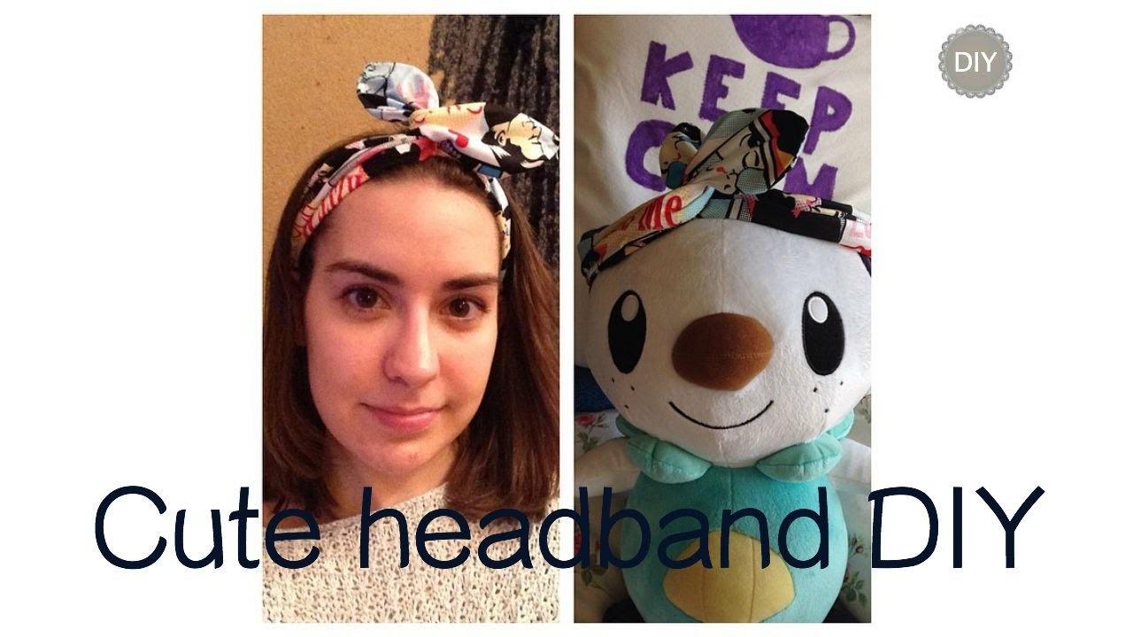 Cute headband DIY (fascia per capelli)