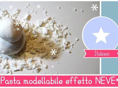 Pasta modellabile (Didò) effetto NEVE fai da te - giochi sensoriali per bambini by Fantasvale