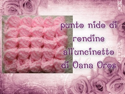 Punto nido di rondine all'uncinetto