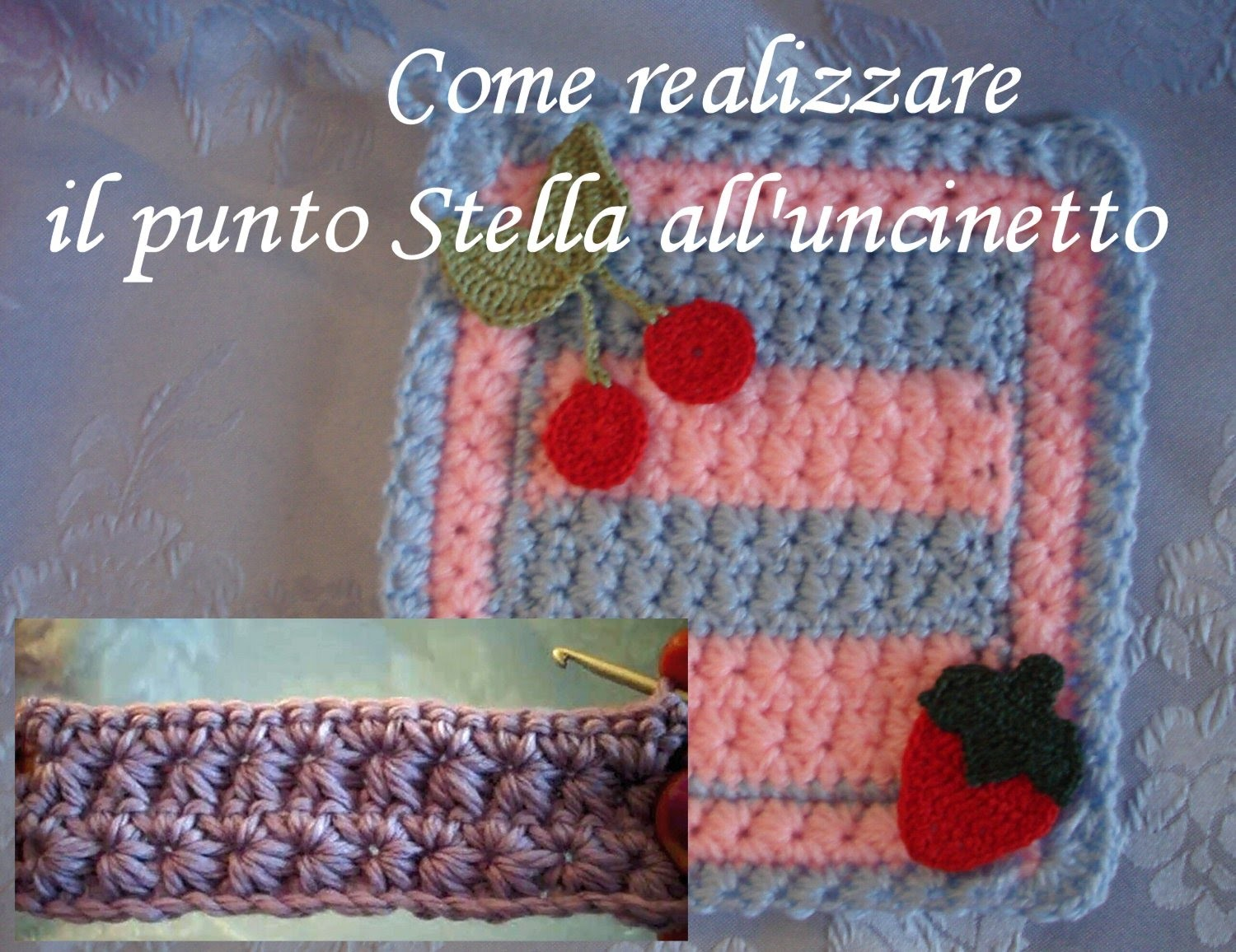 Punto stella uncinetto Star Stitch crochet