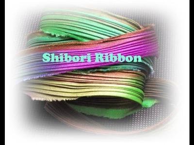 Shibori ribbon. Nastri di seta colorata per creare eleganti gioielli