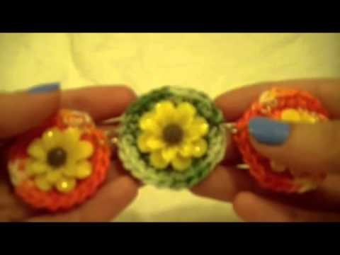 TUTORIAL BRACCIALE CERCHI UNCINETTO( crochet circles bracelet tutorial)