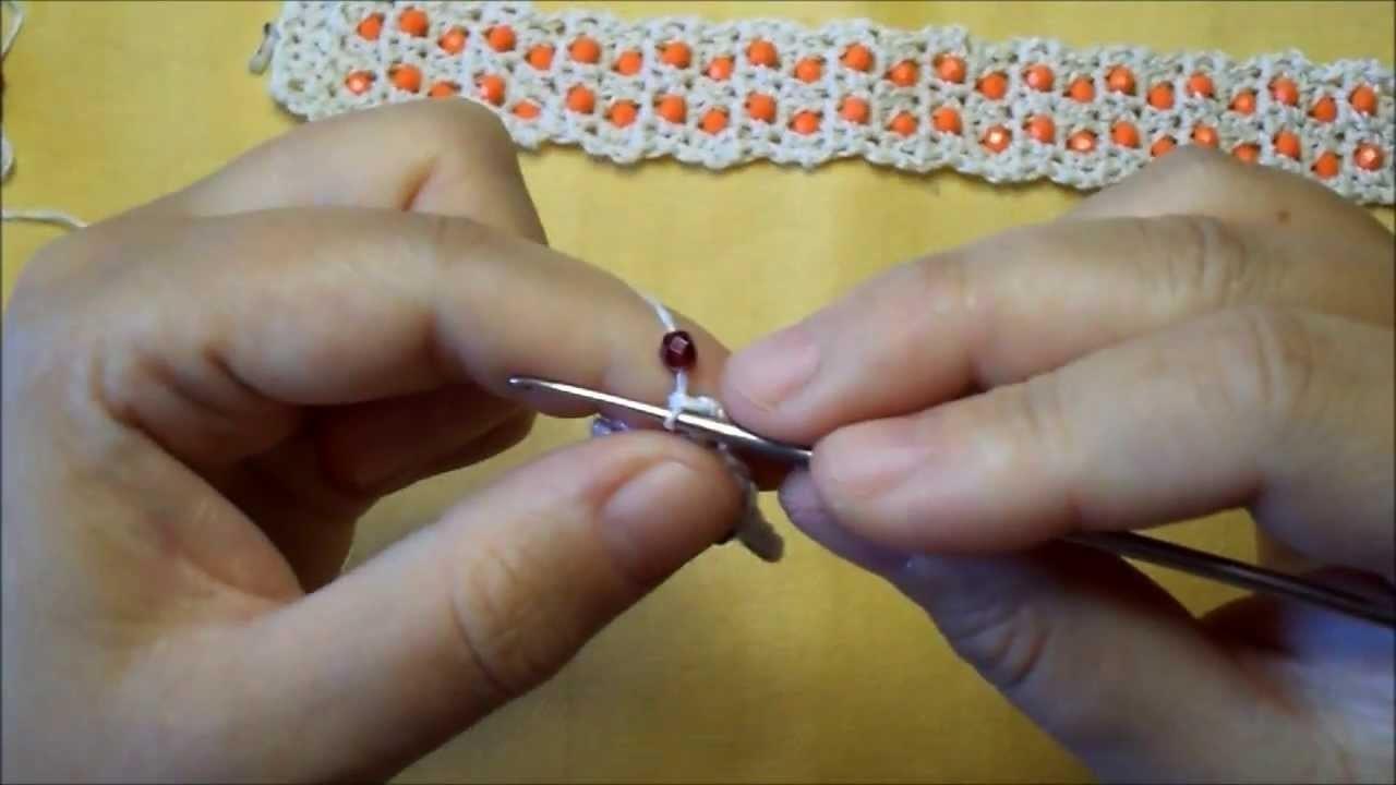 Tutorial bracciale uncinetto con cristalli
