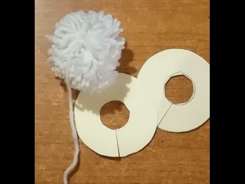 Tutorial : come fare i pompon (pon pon)  artigianali