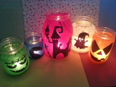 TUTORIAL: LANTERNE di Halloween riciclando i BARATTOLI  (-rIcIcLo-DiY-)