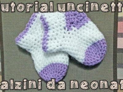 Tutorial uncinetto - Calzini da neonato [Parte 2]
